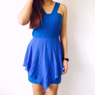 Electric Blue Layered Dress