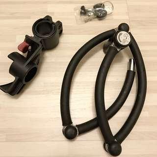 四折鎖 正品立兆鎖LJ-9080S四節鎖自行車鎖 防盜鎖抗液壓剪 M號