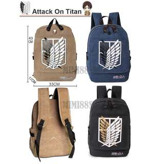 [BN] Attack On Titan Canvas Bag - Left Blue Only