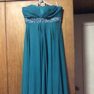 Sea Green Long gown