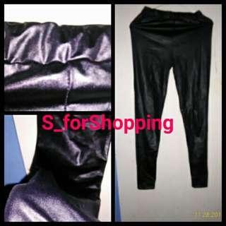 Leather Black Legging