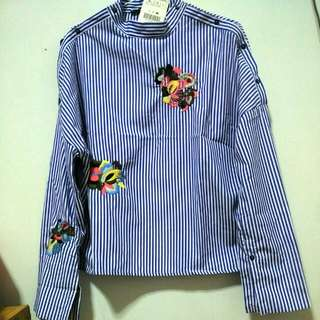 REPRICED Striped shirt with patch