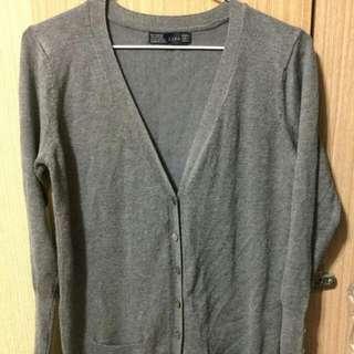 🚗代售🚗ZARA 深灰針織罩衫