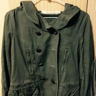 🚗代售🚗雙排扣軍綠外套