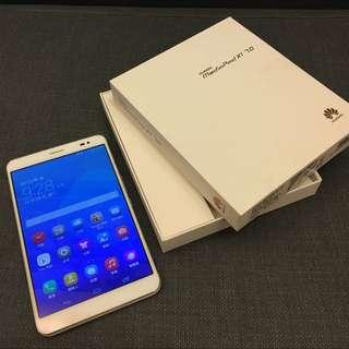 HUAWEI MediaPad X1 閃耀銀 全機無傷 膠膜未撕 盒裝完整