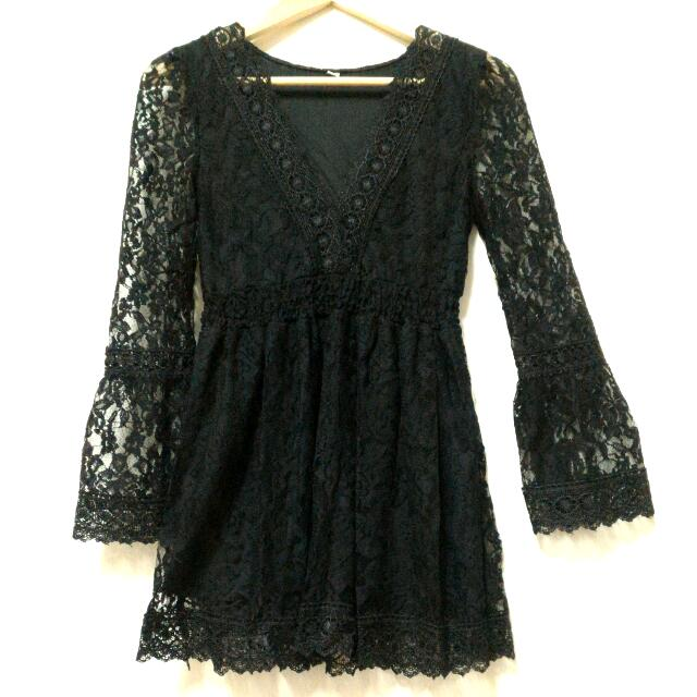 (全新)黑色蕾絲洋裝