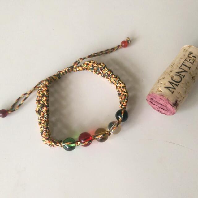 五色珠 編織 手環