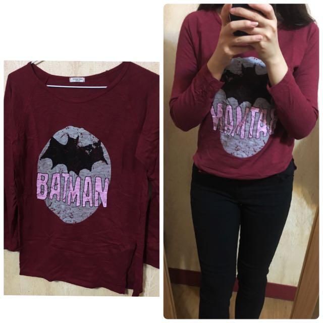 洗舊感 蝙蝠俠T恤 上衣
