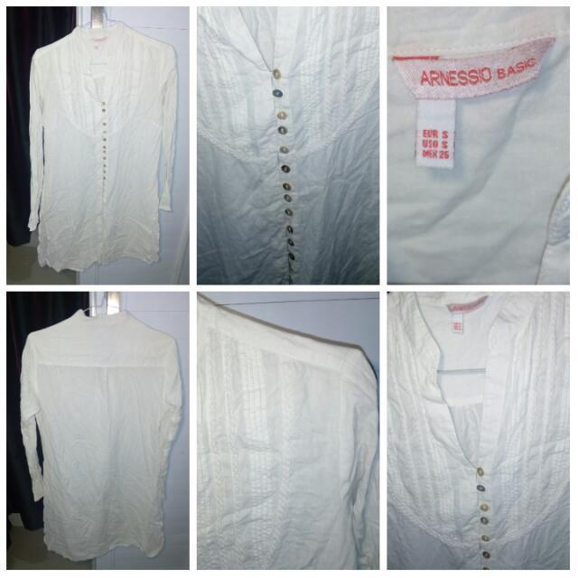 Arnessio White Basic Tunic
