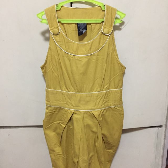 Bayo Vintage style Yellow Dress with pockets