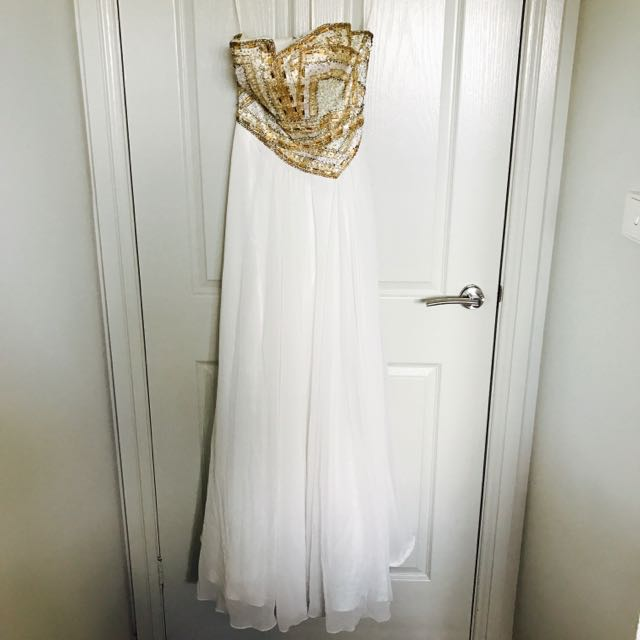 Beautiful Gold Embellished Formal Gown