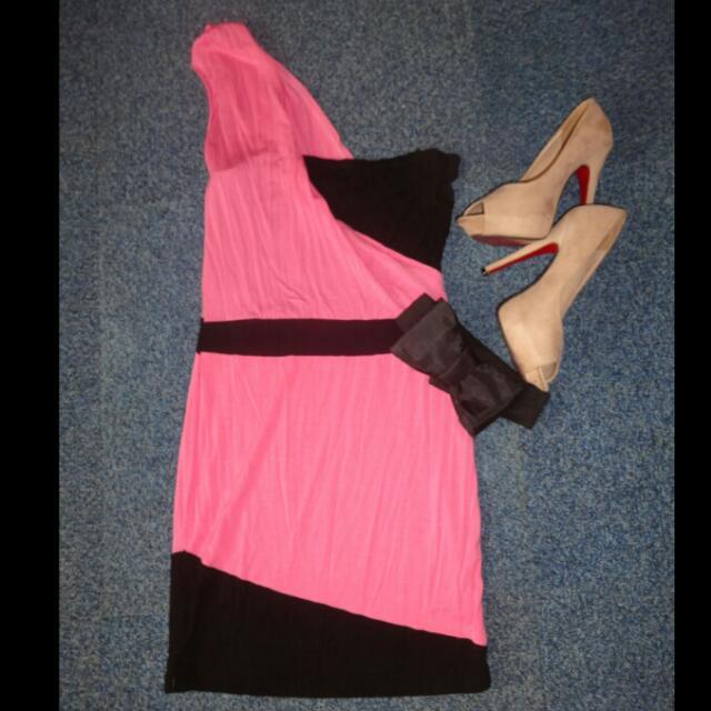 Mint Black and Pink Dress