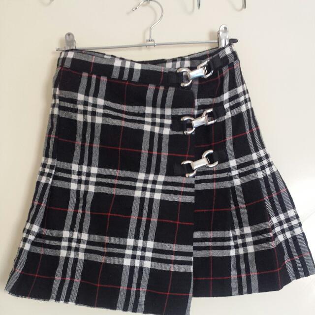 Black White And Red Skater Skirt