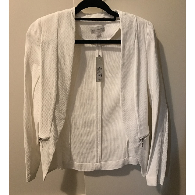 BNWT White ladies blazer size 8
