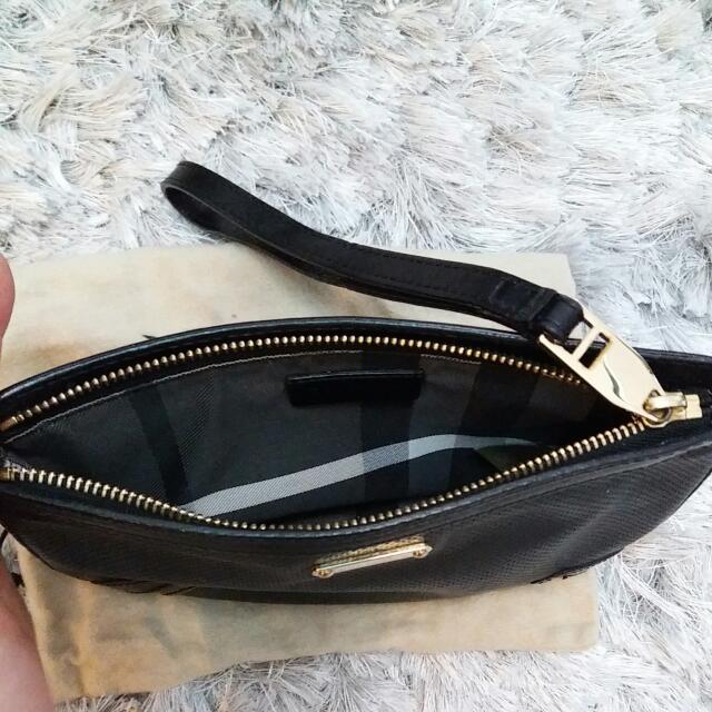 Burberry Leather Wristlet