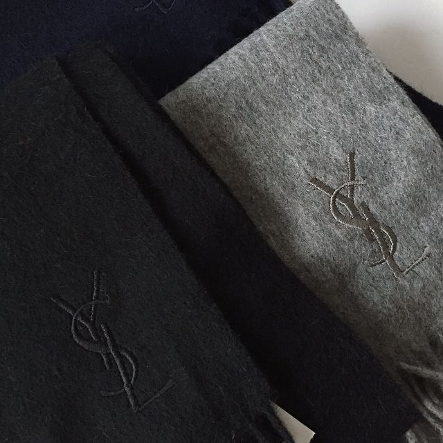 CC Collection 代購 Yves Saint Laurent YSL 義大利製基礎八色羊毛圍巾 多色現貨 實拍