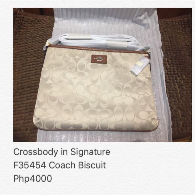 Coach F35454 Crossbody in Signature Biscuit