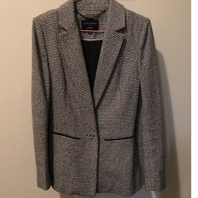 DANI MINOGUE black/white houndstooth blazer size 6
