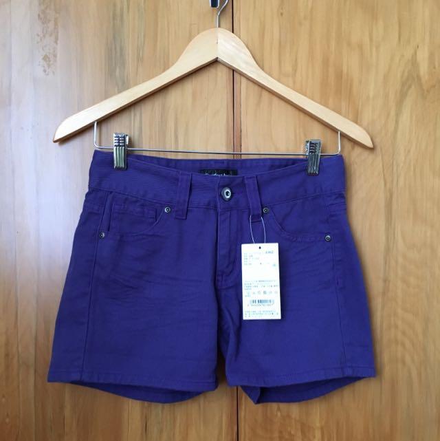 Dark Purple Shorts