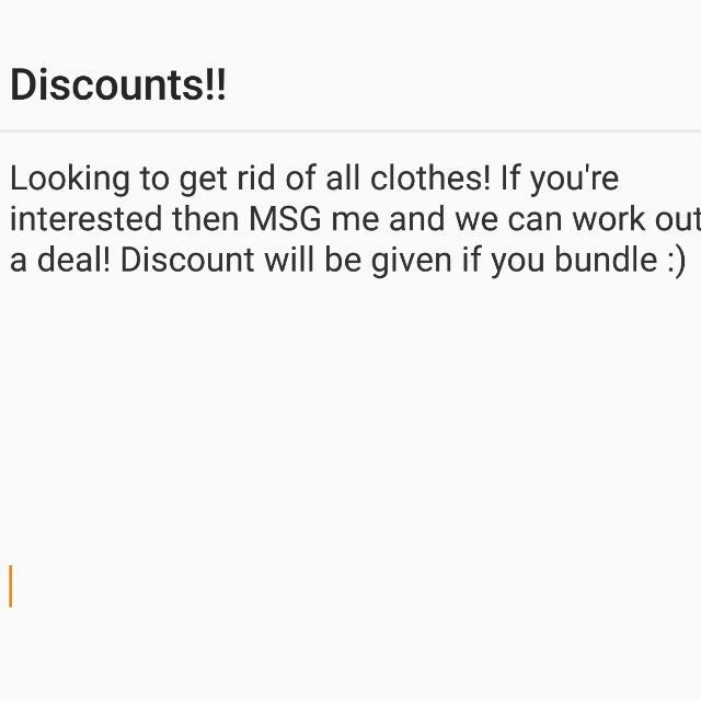 Discount!!!