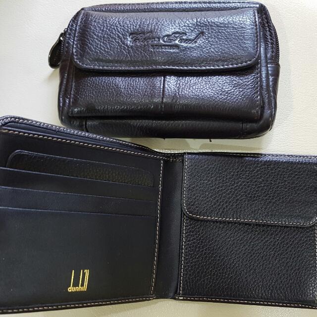 Dua buah dompet kulit asli (bukan kulit syntesis).