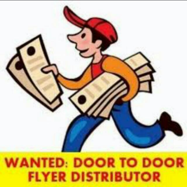 Flyer Distributor Wanted 20,000  Flyer $100+$300 Extra Sales Bonus.  Part Time,  Full Time.  Sales.