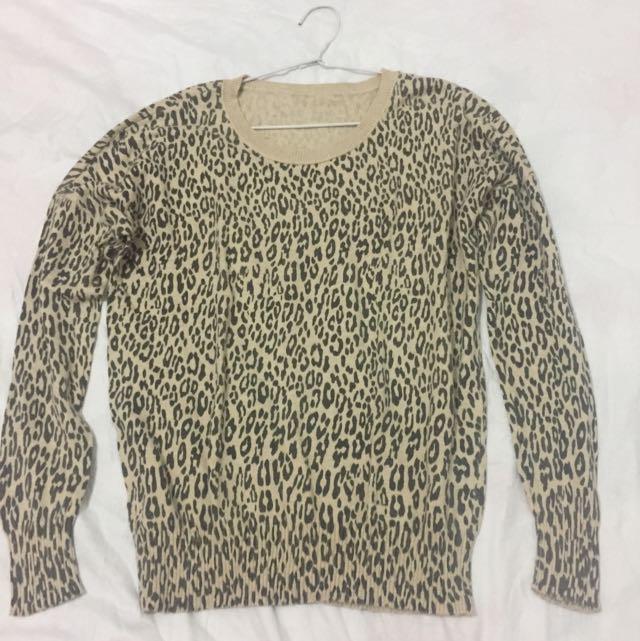 GLITTER leopard tshirt