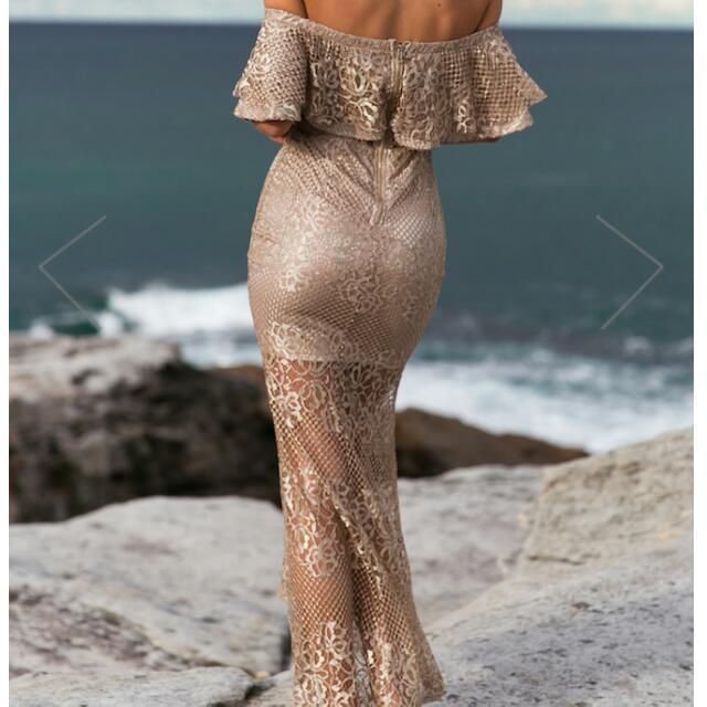 🔥🎄SALE Gold Lace Summer Dress