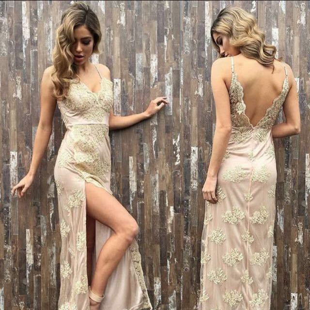 442f44983bf1 Gold Stelly Maxi Dress, Women's Fashion, Clothes, Dresses & Skirts ...