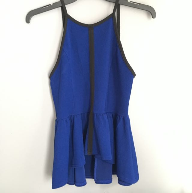 High Neck Fitted Top With Flowy Bottom Size L