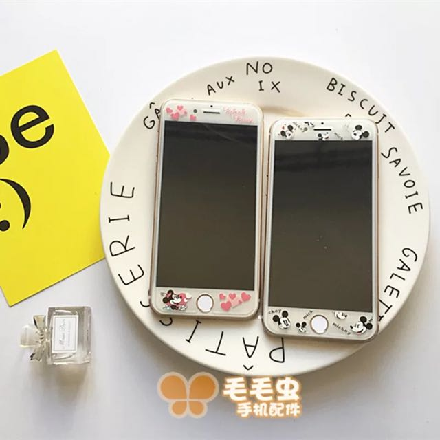 Iphone卡通鋼化保護膜