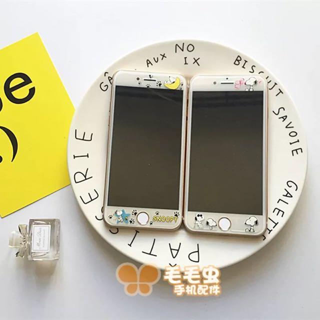 Iphone SNOOPY卡通鋼化膜