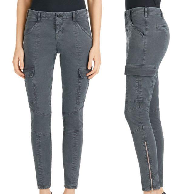 J Brand Grey Cargo Pants
