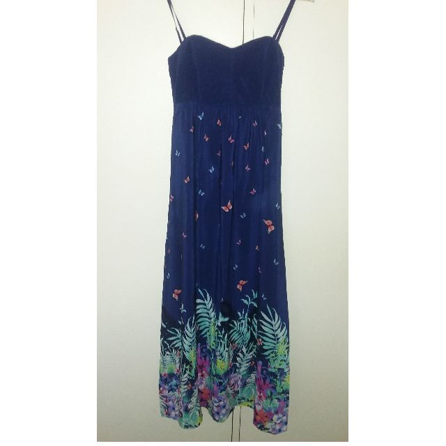 JEANSWEST BUTTERFLY FLORAL MAXI DRESS