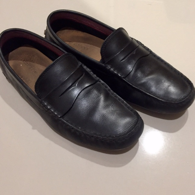 fc9c5a619c937a Lacoste leather loafer sepatu formal black