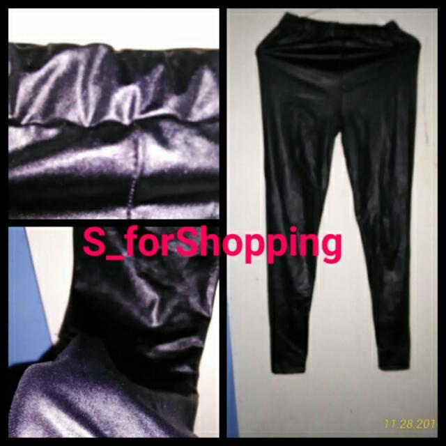 Leather Black Legging