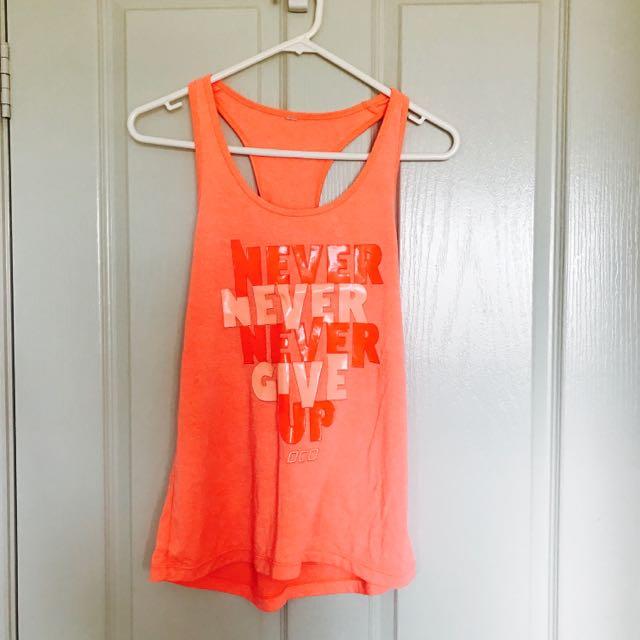 Lorna Jane Never Give Up Shirt