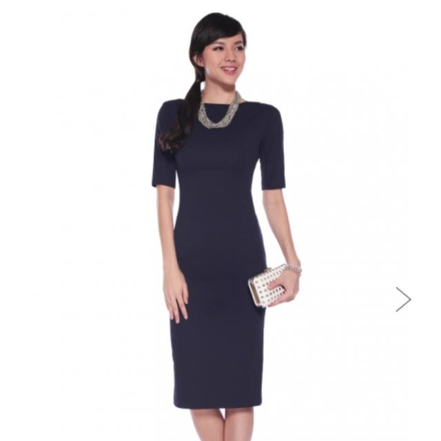 Love Bonito Dalphona Midi Textured Dress