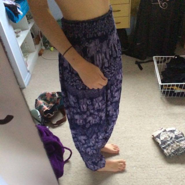 Low Crotch Hippie Pants