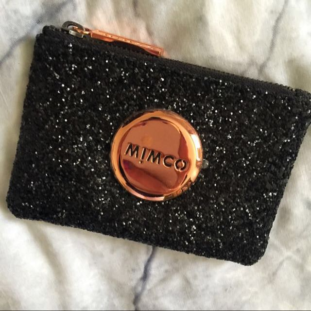 Mimco Black Sparkles Small Pouch
