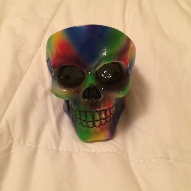 Multi-colored Skull Ashtray