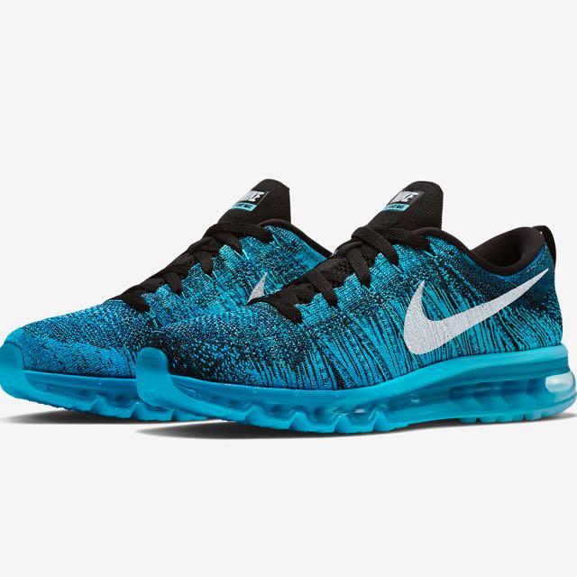 Nike Flyknit Air Max Blue, Women's