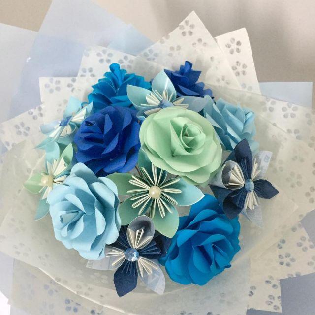 Origami Flower Bouquet (Just Blue), Design & Craft, Handmade Goods ...