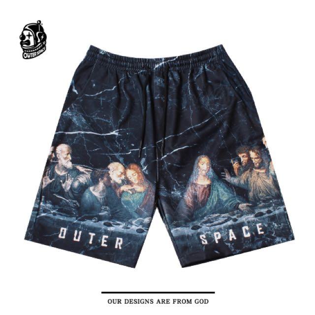 (全新)Outer Space 末日晚餐大理石紋短褲