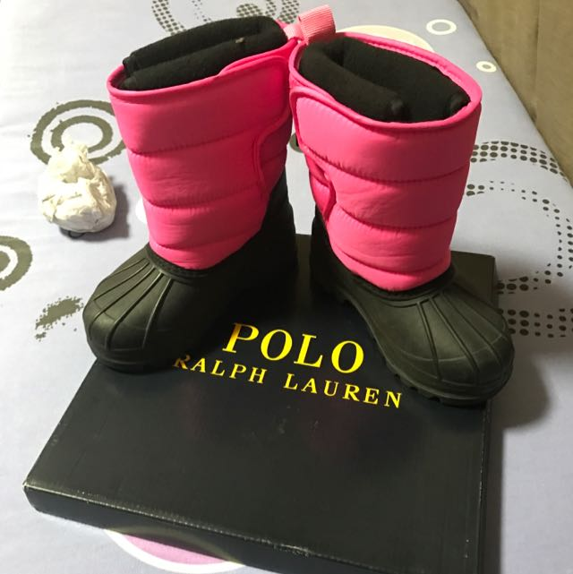 9592ea44947 Polo Ralph Lauren Winter Boots Kids US Size 8, 14cm, Babies & Kids ...