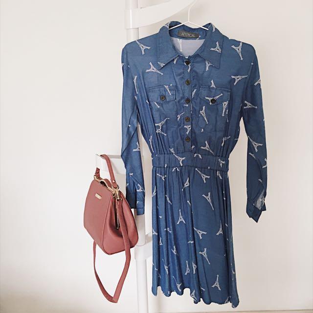 Paris Blue Dress