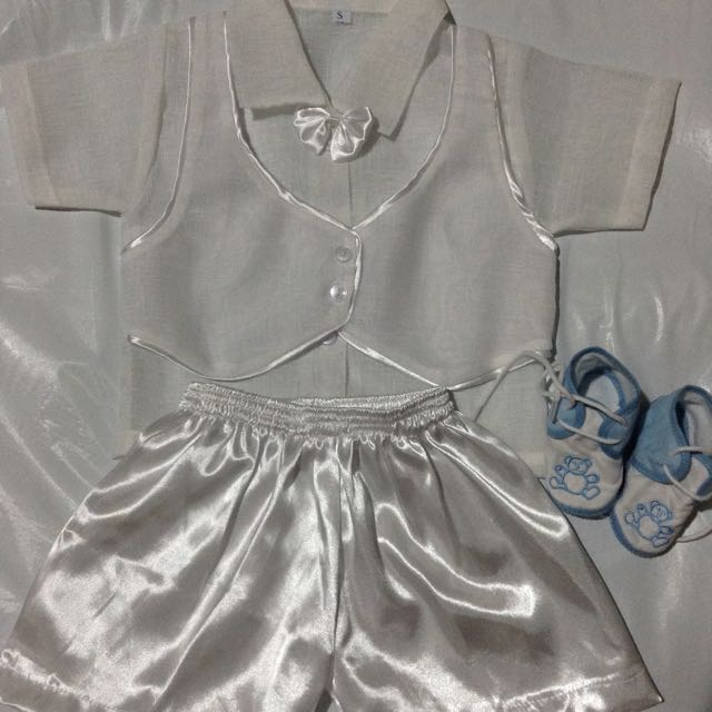 REPRICED!! Preloved Pambinyag Set For Baby Boy