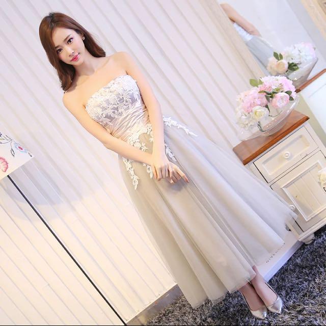 8d7dfc78dc Pre-order  Satin Tube Floral Strapless Dress