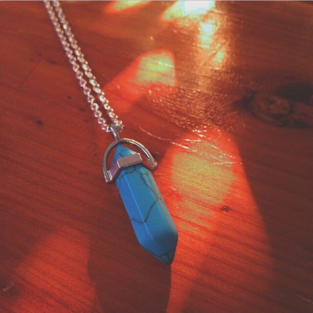 Prism Necklace (turquoise)
