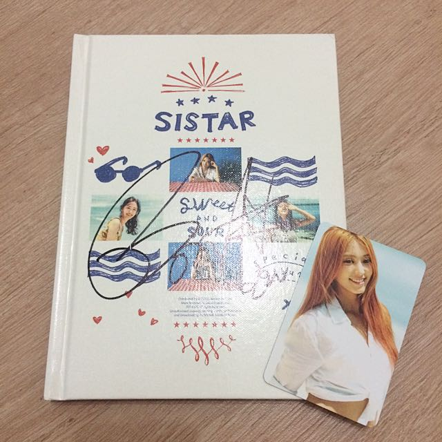 Sistar - Sweet & Sour Album (Signed by Bora + Card)
